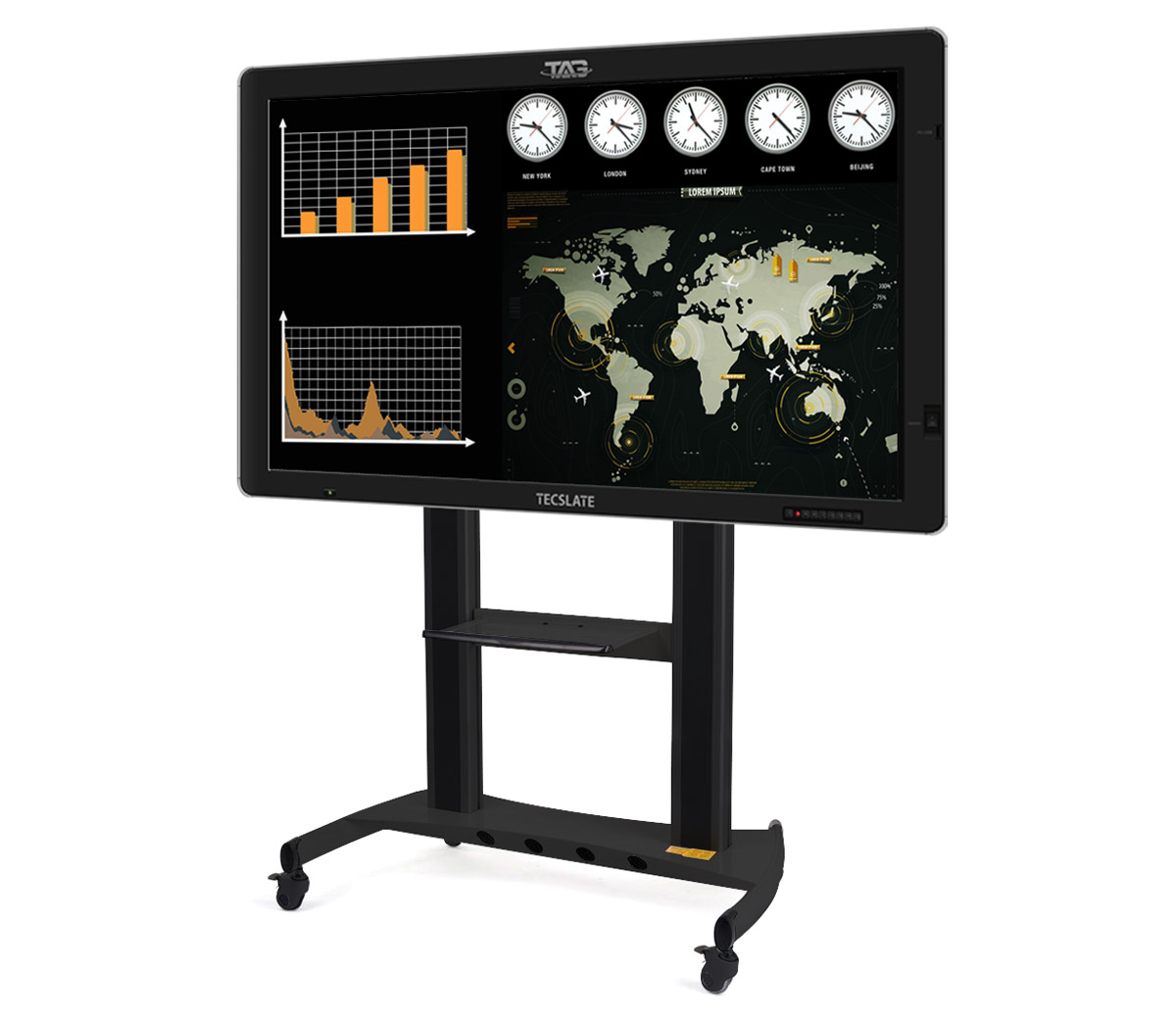 TAG Global Systems produces the TAG TECSLATE, a collaborative and interactive touchscreen flat panel computer