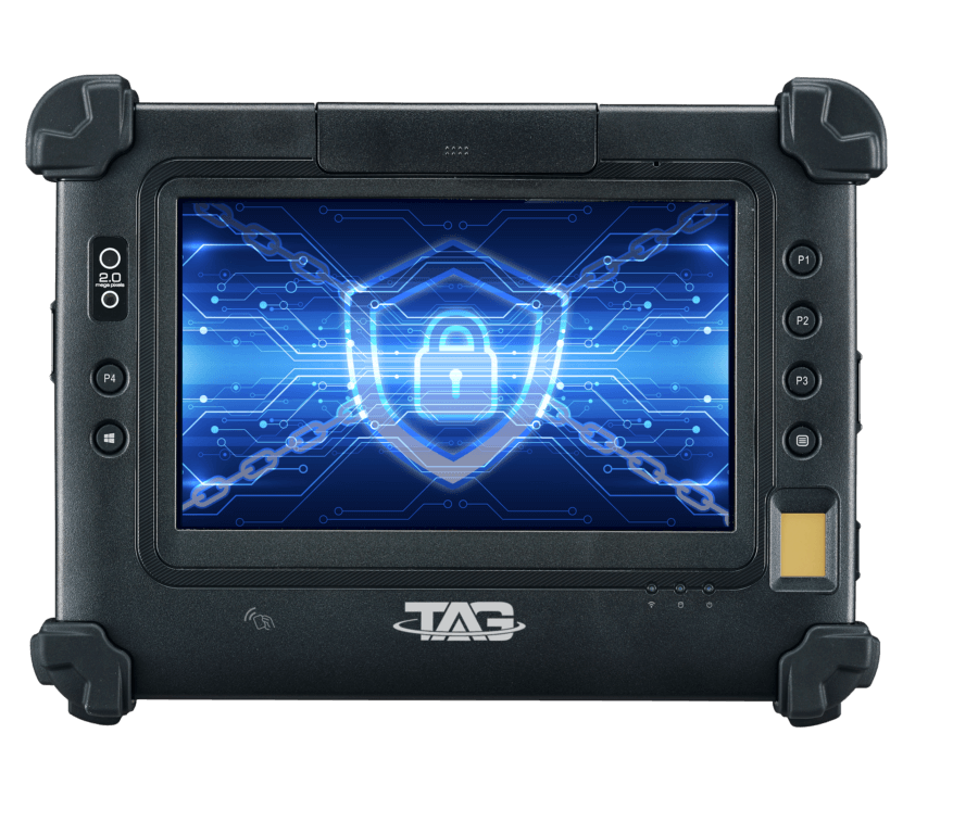 TAG Global Systems produces the TAG GD700, an interactive rugged tablet